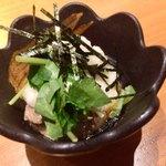 吉祥寺 三うら - ネギトロとマグロと牛スジと豆腐の前菜