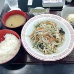 あなたの街の定食屋さん - 野菜炒め定食(730円)