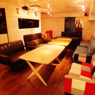完全個室あり!!はなれのソファー貸切個室でゆっくり宴会も♪