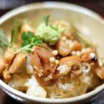 Grill&Wine TOSAKA - 鶏ひつまぶし 1200円 の薬味のせ
