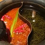 しゃぶしゃぶ温野菜 - 麻辣肉鍋+昆布だし