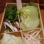しゃぶしゃぶ温野菜 - 野菜(最初)