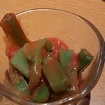 しゃぶしゃぶ温野菜 - 茎レタス梅肉和え