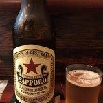 天作 - サッポロビール大瓶ラガー700円