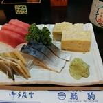 鮨駒 - 料理写真:刺身の図