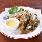 秋刀魚の香草フライ サルモリーリョソース