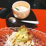 鮨・割烹 花絵巻 - サラダ&茶碗蒸し(^^)