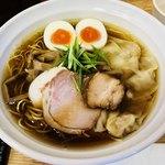 鶏と魚 - 特製煮干醤油らぁ麺(細麺)