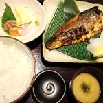 産直青魚専門 御厨 - とろ鯖藻塩炭火焼き定食