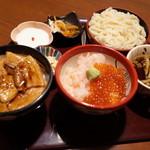 海山亭いっちょう - 北海丼と十勝丼、小うどんセット