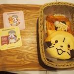 ベーカリーカフェ キャラブレッド - 料理写真:「お団子デニッシュ」 & 「ラスカルパン てれっ(カスタード)」