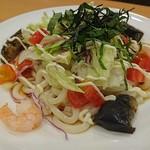 ガスト - 海老と彩り野菜のサラダうどん