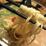一蘭 - 麺はこんな感じ