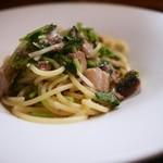 cenci - 秋刀魚と新生姜のスパゲッティ