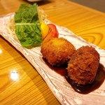 旬菜一楽 - 牛肉とカニ身のコロッケ✩