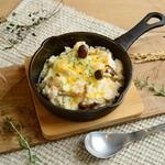 海老とキノコのクリームチーズドリア