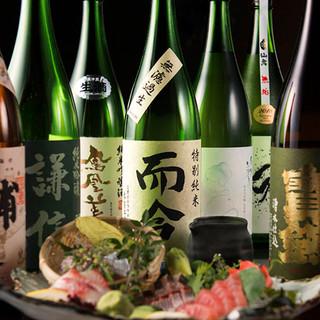 店主厳選!日本酒・焼酎・ワインなど、酒好きも唸るラインナップ