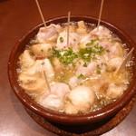 Bar espana carne - 鮭の白子とマッシュルームのアヒージョ