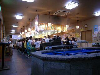 スーパー回転寿司やまと 館山店 - 旧店内。(12年12月改装)