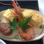 Matsushou - 出汁巻卵と栗渋皮煮❣️