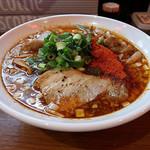 辛口炙り肉ソバ ひるドラ - 辛口炙り肉ソバ醤油 2杯目