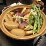 Uenoyabusoba - 鴨鍋そばがき