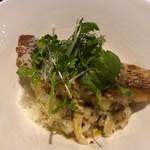 アプランドル - 豊浜真鯛と松茸のチーズリゾット