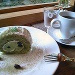 9256253 - 抹茶ロールとコーヒー