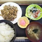 Ranchihausu - 豚焼肉定食 600円(税込)(2018年9月11日撮影)