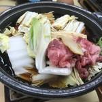 92563175 - 霜降り松阪牛入り松茸鍋