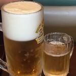pizzeria di sapore - 生とグラスの違いが(^∇^)