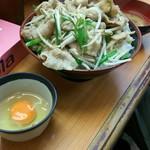 吉祥寺どんぶり - お連れ様のにらもやし丼計1060円。美味しそうなニンニク臭が溢れる一品です。