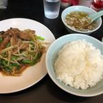 ラーメン春香 - レバニラ定食(850円)