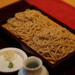 蕎千花 - 料理写真:せいろ 北海道 雨竜産 秋新蕎麦 キタワセ