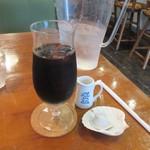 ヘルスワークス - 食事の後は100円追加してアイスコーヒーをいただき少しゆっくりさせていただきました。