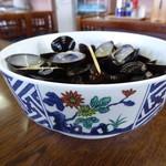 元祖しじみラーメン 和歌山 - 2杯分の殻です