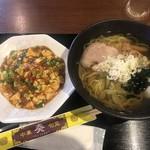 奏 - 料理写真:ラーメン・ミニマーボー丼