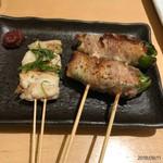 焼き鳥 きんざん - 鱧 チーピー豚巻