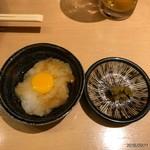 焼き鳥 きんざん - 月見と柚子胡椒