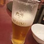 横浜大飯店 - 暑かったので半分一気飲み