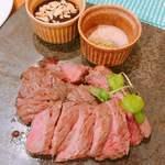 肉酒場ビストロ男前 - 牛ロースステーキランチ 1580円