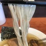 えなみ - 【2018.9.2】中加水で全粒粉を練りこんだ細麺。