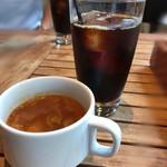 92590054 - アイスコーヒー&ミネストローネ