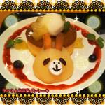 しろくまカフェ - 期間限定◇ラマさんの洋梨パンケーキ◇