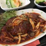 日の出食堂 - 料理写真:日替り定食 洋風豆腐ハンバーグ