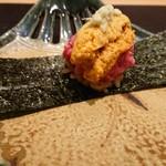 92597725 - ヒレ&雲丹の手巻き寿司