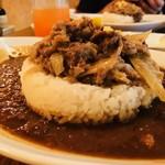 大崎一番家 - 牛肉がライス上にこんもり!