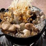 ■6種の木の子鍋