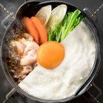 ■月見・鶏すき鍋