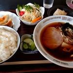 松飯店 - 料理写真:ラーメン定食(ご飯普通盛り900円)
